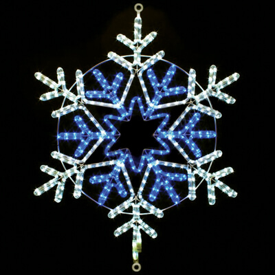 LED Rope Light Snowflake Motif