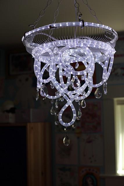 rope light chandeliar